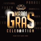 Gold type Mardi Gras background Royalty Free Stock Images
