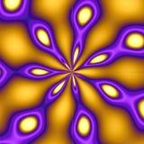 Gold u. purpurroter Pfau-Hintergrund Lizenzfreies Stockbild