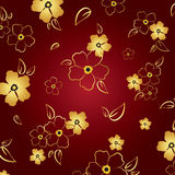 Gold u. roter Blumenhintergrund Stockfoto