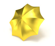 Gold umbrella isolated on white Royalty Free Stock Photography