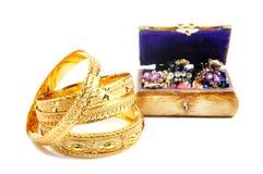Gold und accessorys Stockfoto