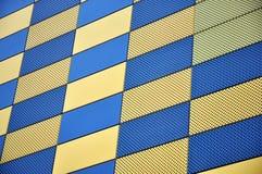 Gold und blaue Wand Stockbilder