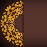 Gold- und der braunen Sonnenblumenrunde Einladung Lizenzfreie Stockfotos