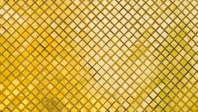 Gold und Fliesen des gelben Mosaiks Stockbild
