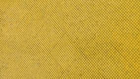 Gold und Fliesen des gelben Mosaiks Stockfoto