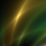 Gold und grüne Streifen des Lichtes Stockbild