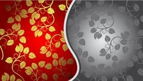 Gold und grauer Blumenhintergrund Lizenzfreie Stockfotografie