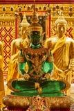 Gold- und Jade Buddha-Statue Stockfotografie