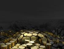 Gold und Kohle, Hintergrund lizenzfreie abbildung