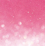 Gold und Rosa abstrakte bokeh Lichter Defocused Hintergrund Lizenzfreie Stockfotos