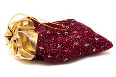 Gold und roter Geschenkstapel. Lizenzfreies Stockbild
