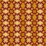 Gold und rotes metallisches regelmäßiges nahtloses Muster Stockbilder