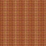 Gold und rotes metallisches regelmäßiges nahtloses Muster Lizenzfreie Stockfotografie