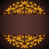 Gold und runde Sonnenblumeneinladung des Brauns Lizenzfreie Stockfotos