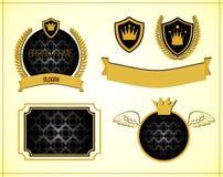 Gold und schwarze Fahnen Stockbilder