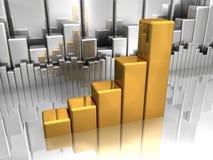 Gold-und Silber-Diagramme lizenzfreie abbildung