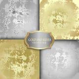 Gold- und Silberbeschaffenheit Stockbild