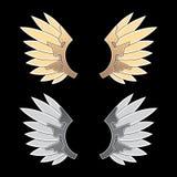 Gold- und Silberphantasieflügel Lizenzfreie Stockbilder