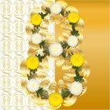 Gold und Weiß 8. Lizenzfreie Stockfotos