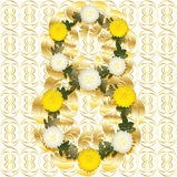 Gold und Weiß 8. Stockfoto