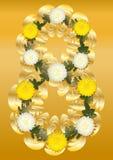 Gold und Weiß 8. Lizenzfreies Stockbild