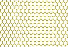 Gold und weiße Bienenwabenzusammenfassung geometrisch Lizenzfreie Stockbilder