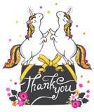 Gold Unicorn Illustration. Royalty Free Stock Images