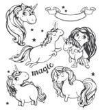Gold Unicorn Illustration. Royalty Free Stock Image