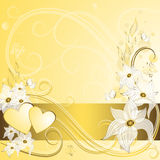 Gold valentine frame Royalty Free Stock Image