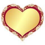 Gold valentine frame Stock Photo
