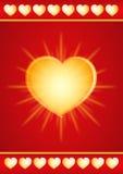 Gold valentine heart Royalty Free Stock Photos