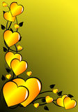 Gold valentines Background Royalty Free Stock Images