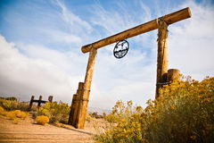Gold Valley Ranch. In Mojave Desert, California Royalty Free Stock Photo