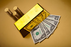 Gold value, ambient financial concept Stock Images