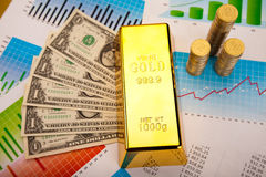 Gold value, ambient financial concept Stock Image