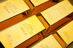 Gold value, ambient financial concept Stock Photography