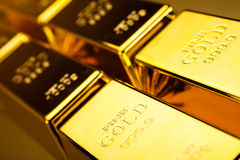 Gold value, ambient financial concept Royalty Free Stock Images
