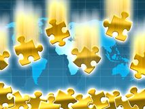Gold value concept. And world map background illustration Royalty Free Stock Photos