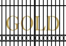Gold value facing decrease Royalty Free Stock Photos