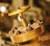 Gold valve. Stock Photo