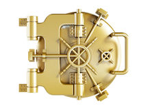 Gold vaulted Door Stock Image