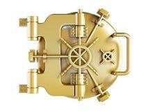 Gold vaulted Door Stock Image