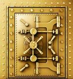 Gold vaulted door Royalty Free Stock Photo