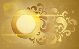 Gold vector background Royalty Free Illustration