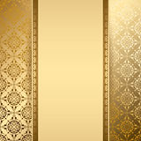Gold vector background with vintage pattern Royalty Free Stock Photo