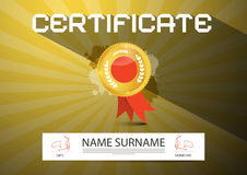 Gold Vector Certificate Layout Royalty Free Stock Photo