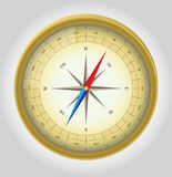 Gold Vector Compass. Glossy Vector  Compass. Vector Illustration. EPS10 Royalty Free Stock Photography