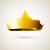 Gold vector crown Stock Photos