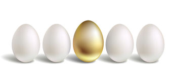 Gold vector egg concept Stock Photography