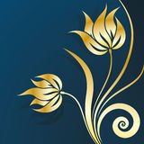 Gold Vector Floral Stock Images